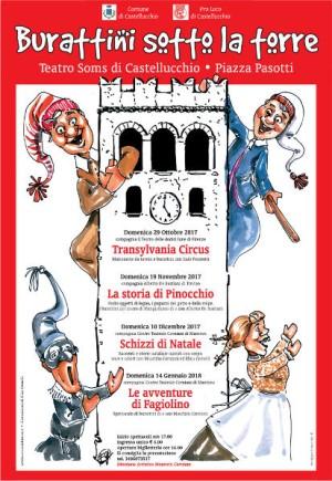 Burattini sotto la torre / Schizzi di Natale