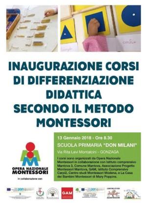 Inaugurazione corsi di differenziazione didattica Montessori