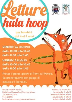 "Letture ""Hula Hoop"" al parco giochi di Ponti s/M"