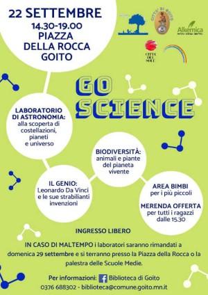 Goito, Go-Science: la scienza in piazza