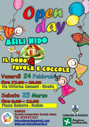 Open-Day all'Asilo Nido di Rodigo